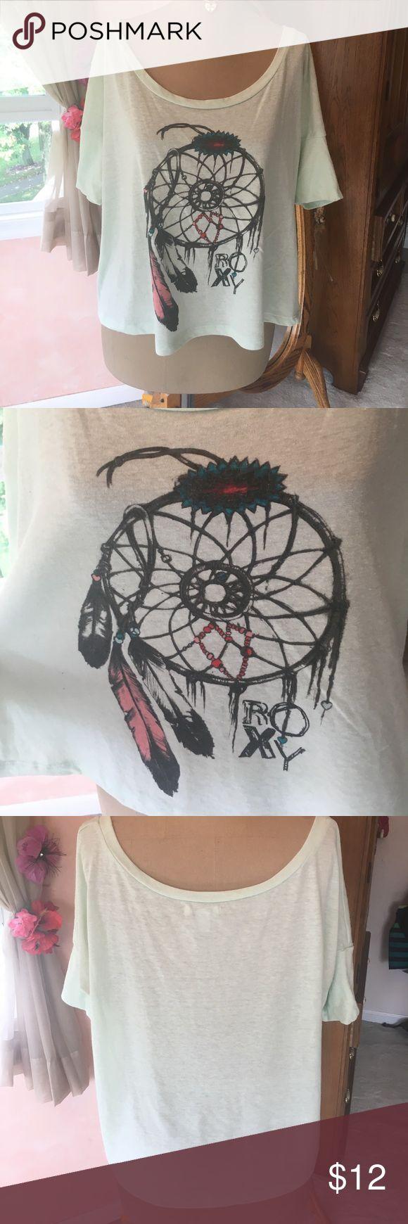 ROXY dream catcher shirt Short sleeve, mint color, dream catcher tshirt Roxy Tops Tees - Short Sleeve