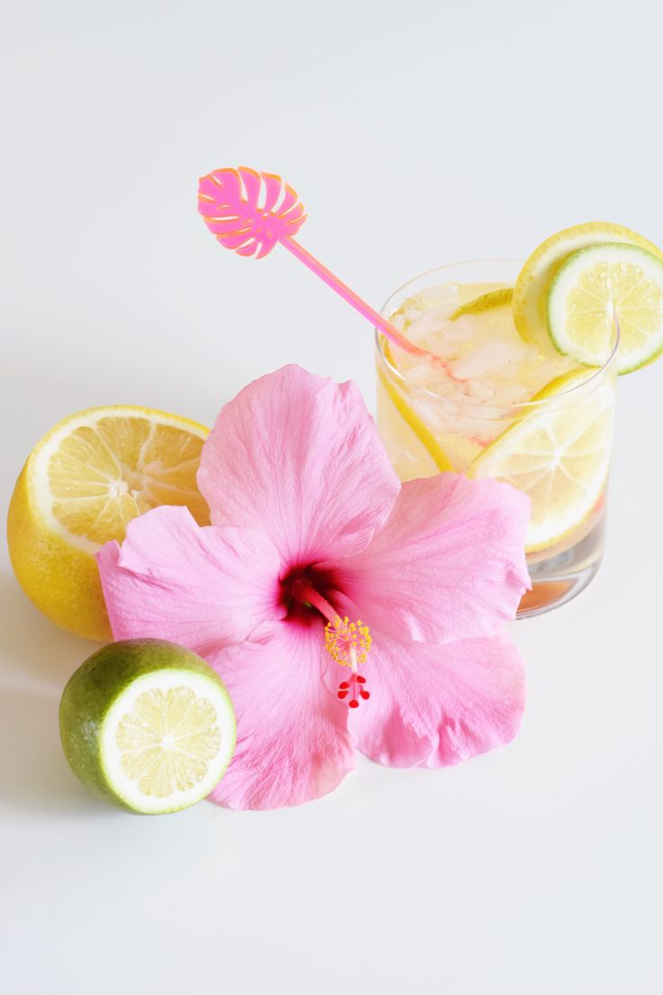 Spiked Hibiscus Lemonade - a crowd pleasing twist on your favorite summer lemonade. Equal parts sweet and sour with a boozy twist!