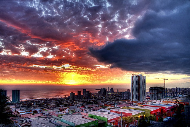 Iquique Sunset Tone Mapping by Gabriel Del Pino, via Flickr