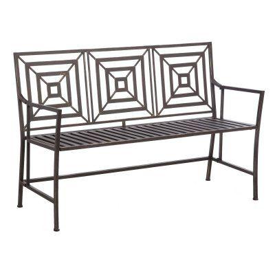 Outdoor Cape Craftsman Metal Garden Bench - 8MB024