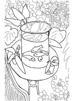 Coloring Pages - Fall Plowing, Goldfish (Klee), Goldfish (Matisse ...