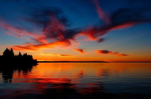 Cold Lake Sunset