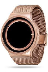 ZIIIRO Eclipse Metallic Rose Gold Watch Side