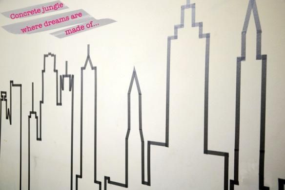 Easy DIY: NYC Skyline in Masking Tape