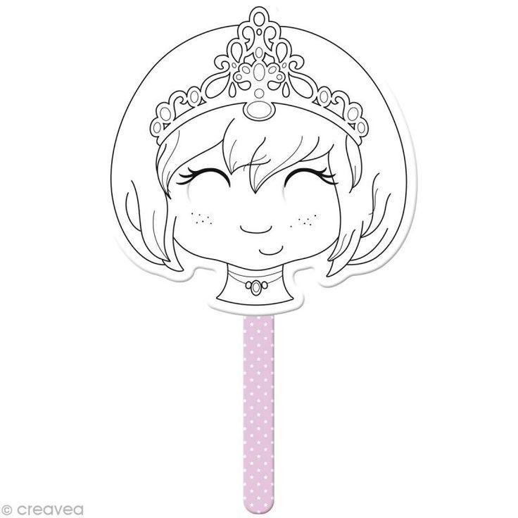Masque à colorier Princesse 35 x 20 cm