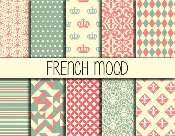 French mood Instant Download Paper Pack Set by babushkadesign