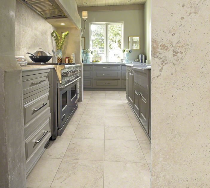 Shaw Porcelain In A Gorgeous Crystaline Marble Visual Style Summerwind Color Beige Kitchen FlooringTile FlooringKitchen DiningDining RoomsFlooring