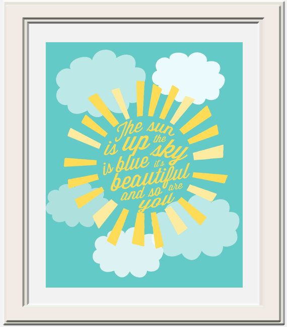 The Sun is Up Beatles Lyric Printable by OliveandBirch on Etsy, $4.50 // dear prudence