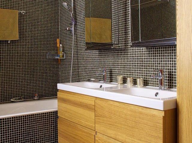 Les 41 meilleures images propos de salle de bain sur - Salle de bain mosaique ...