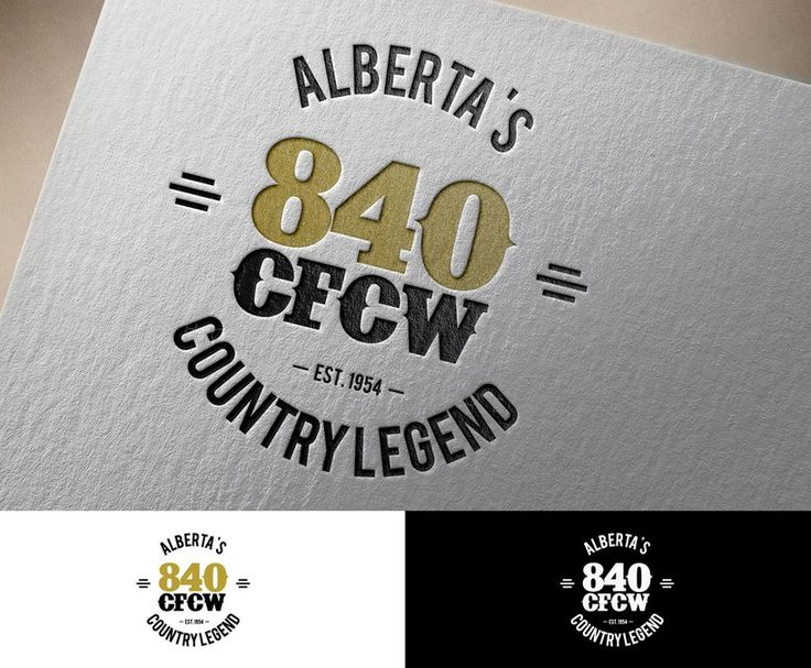 Create a logo for 840 CFCW, a hertiage Country Music Station that was established in 1954 by Luis Altuve