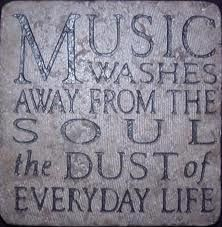 Music washes away