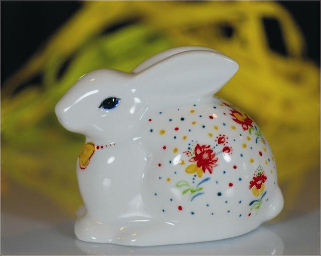 Królik warszawki ręcznie malowany Easer rabbit No. 1