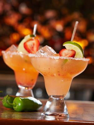 Strawberry Jalapeno Margarita 1½ oz. Corzo Tequila Silver 1 oz. Cointreau ½ oz. agave nectar ¾ oz. lime juice 1 strawberry ½ tsp. jalapeño, diced