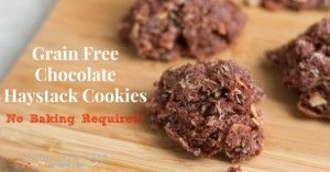 No Bake Grain Free Chocolate Haystack Cookies - Living Low Carb One Day At A Time