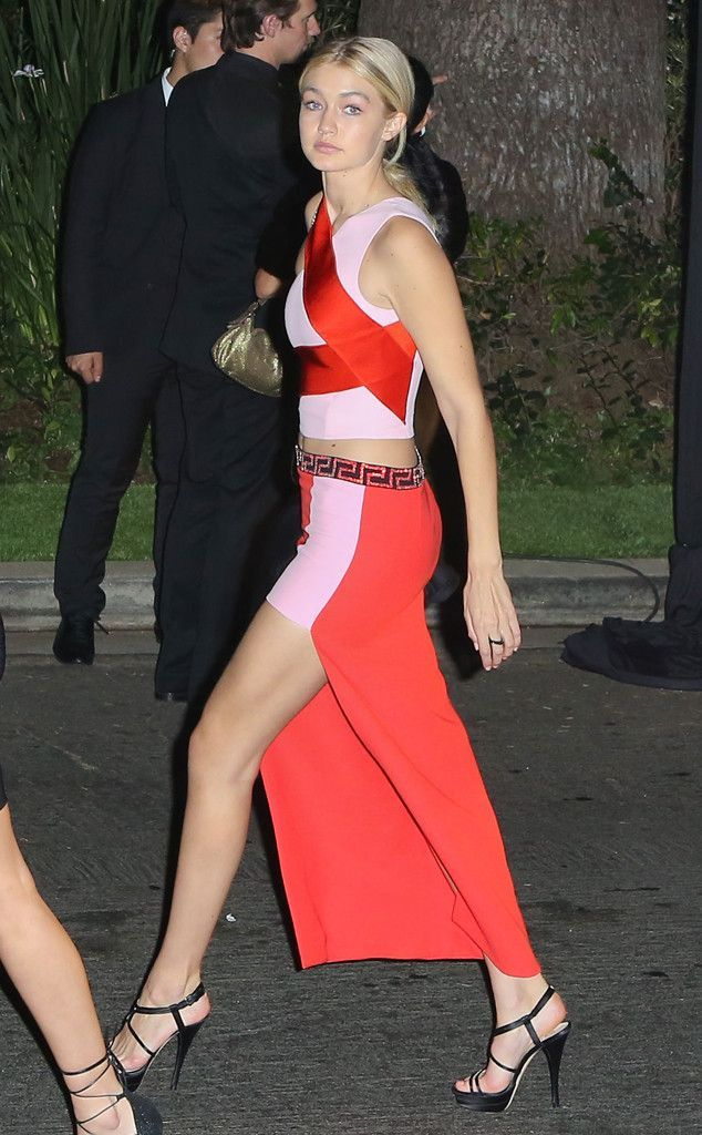 Gigi Hadid The model and daughter of The Real Housewives of Beverly Hills' Yolanda Foster appears outside at the William Morris Endeavour Entertainment pre-Oscars party. #housewifehothighheels