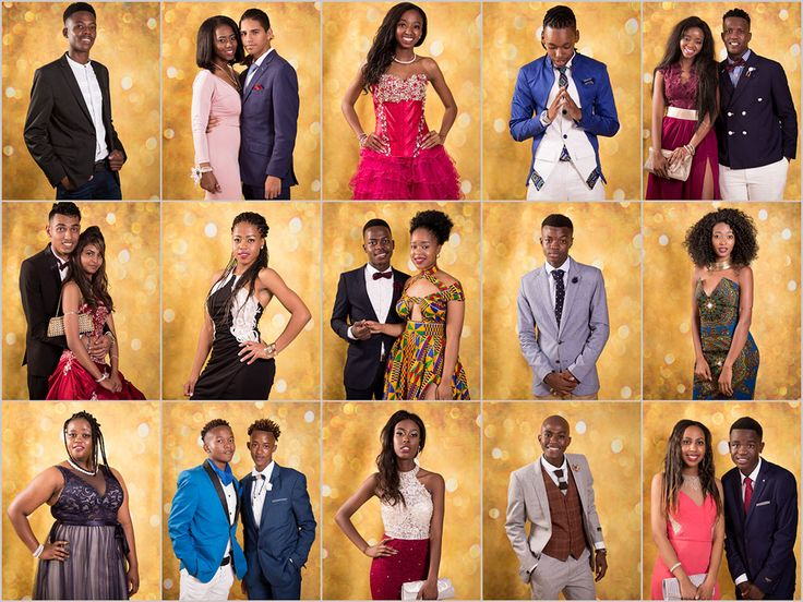Gorgeous young people posing at the matric dance photo booth.