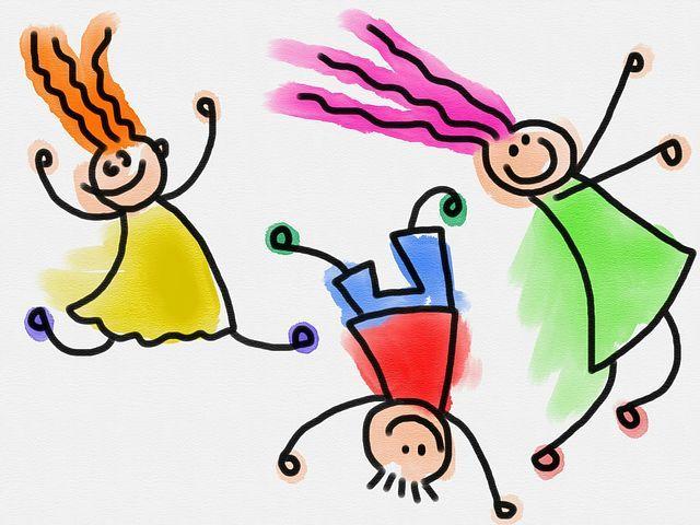 Gyerekek, Gyermekek, Doodle, Vázlat