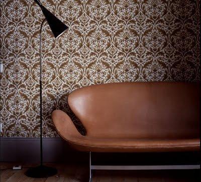 aaaaah, leather Swan sofa: Interiors, Brown Leather Sofa