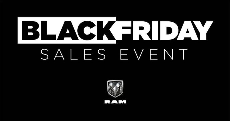 Don't Miss The Black Friday Sign & Drive Lease on Ram 1500 Quad Cab