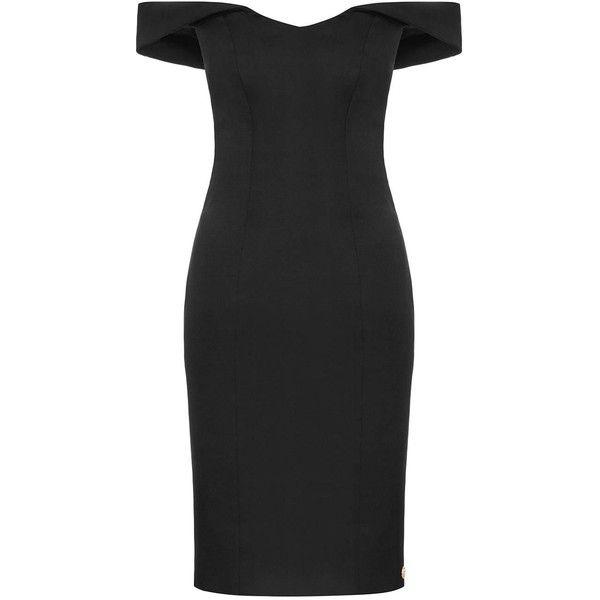 Aloura London - Acacia Dress Black ($230) ❤ liked on Polyvore featuring dresses, sweetheart neckline dress, sweetheart neckline cocktail dress, sweetheart neck dress, petite cocktail dress and petite dresses