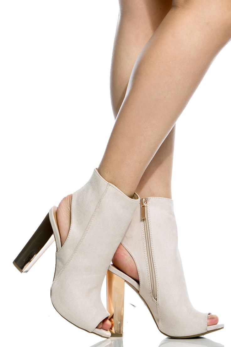 Ivory Faux Suede Chunky Peep Toe Booties @ Cicihot. Booties spell style, so if you want to show what you're made of, pick up a pair. Have fun experimenting with all we have to offer!