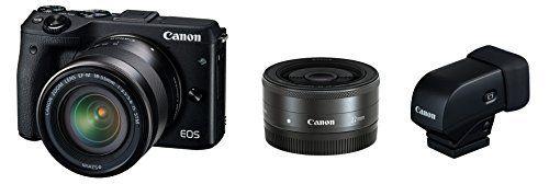 Canon ミラーレス一眼カメラ EOS M3 ダブルレンズEVFキット(ブラック) EF-M18-55mm F3.5-5.6 IS STM EF-M22mm F2 STM 付属 EOSM3BK-WLEVFK, http://www.amazon.co.jp/dp/B00T90F1L0/ref=cm_sw_r_pi_awdl_GiLfvb0RXH1JE