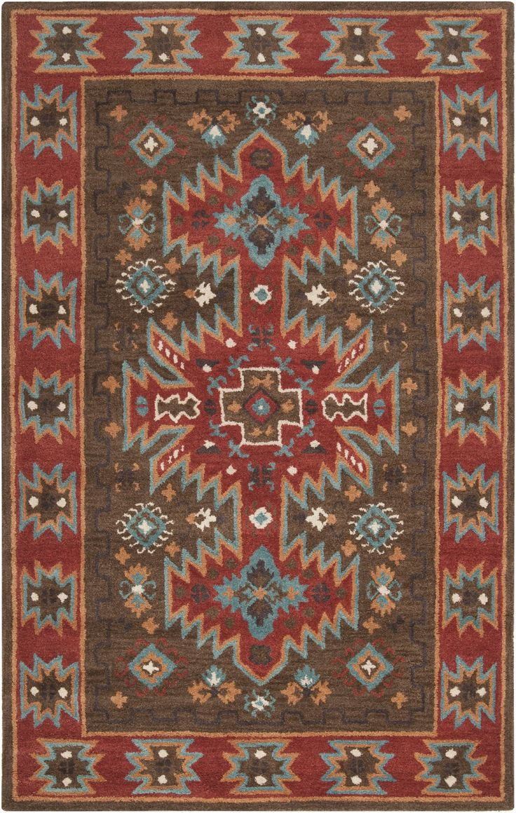 Perfect Surya Arizona ARZ 1004 Coffee Bean Southwestern Rug