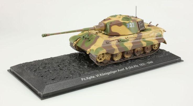 (V189)Miniature Pz.Kpwf.VI KonigstigerAusf.B Sd.Kfz.182 1944 1/72 char de combat