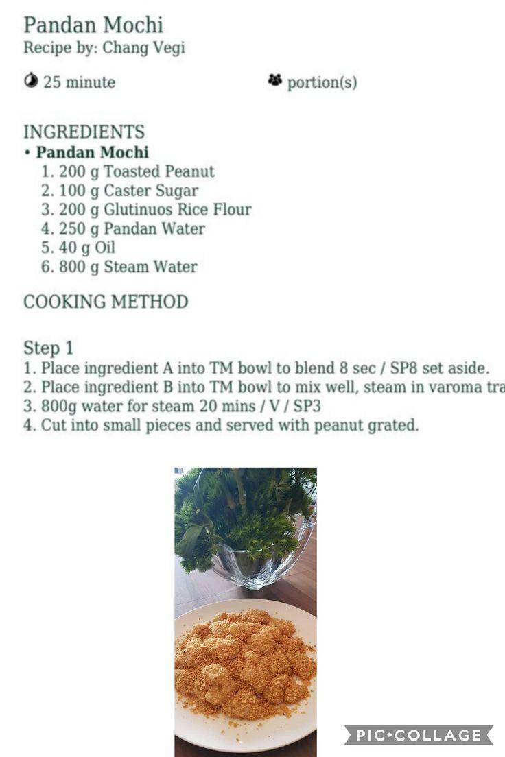 Pandan Mochi   Mochi recipe, Thermomix recipes, Indonesian desserts