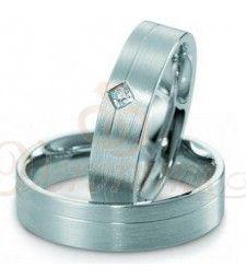 Βέρες γάμου από πλατίνα με διαμάντι Breuning 9011-9012