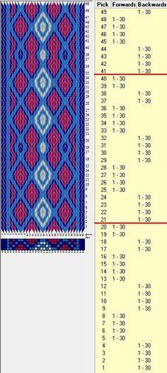 image result for easy card weaving pattern  tablet