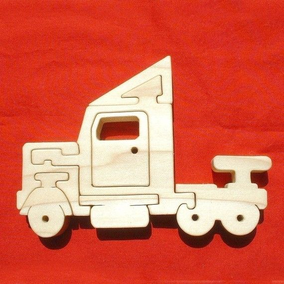 Semi 18 Wheeler Tractor Trailer Truck Childrens By