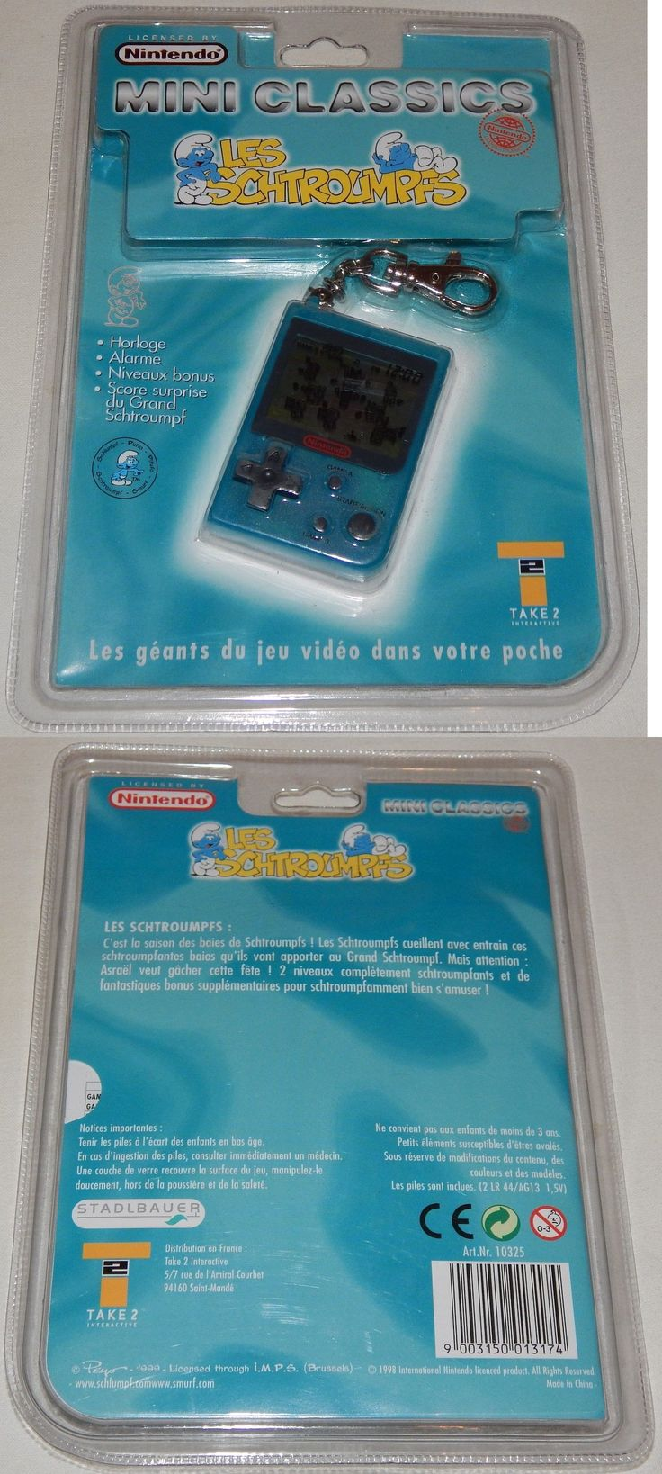 Pre 1970 719 Vintage 1999 Nintendo Mini Classic The Smurfs Lcd Handheld Game Watch
