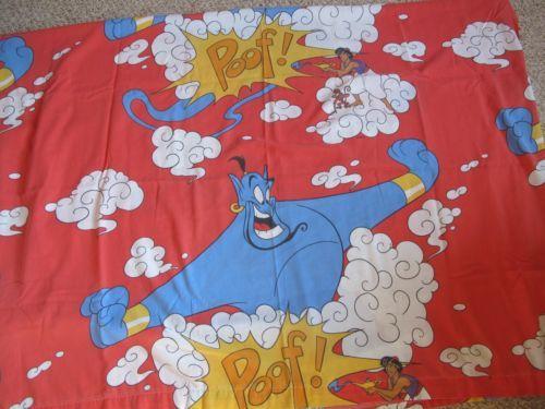 Aladdin Twin Size Bed Sheets Set Fitted & Flat Sheet Pillowcase Walt Disney
