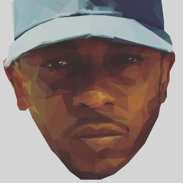 My First Attempt at a Low Poly Design #KendrickLamar #KingKunta #GraphicArt