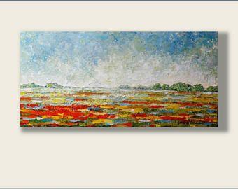 Pintura al óleo abstracta, pintura al óleo, pintura moderna, pintura contemporánea, espátula pintura aceite arte pintura paisaje