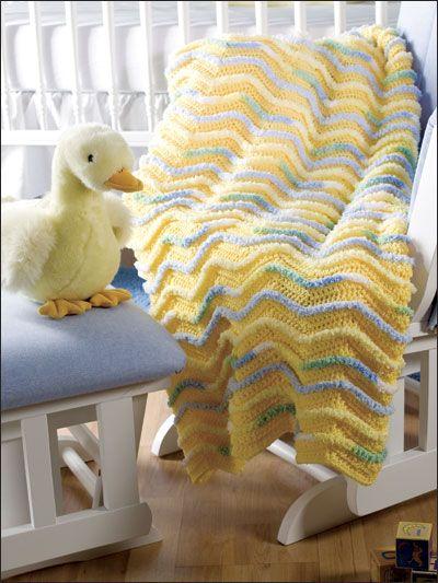 Textured baby blanket #crochet