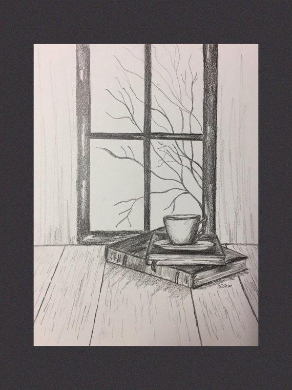 Bleistiftzeichnung drucken, Graphit Kunst, Origina…