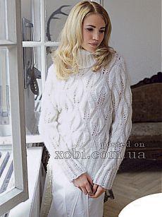 Женские пуловеры и свитера вязаные крючком и спицами » Страница 29