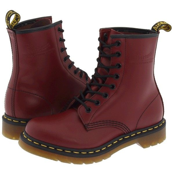 Dr. Martens 1460 W Women's Boots (7.770 RUB) ❤ liked on Polyvore featuring shoes, boots, ankle booties, ankle boots, dr. martens, short boots, yellow boots and dr martens boots