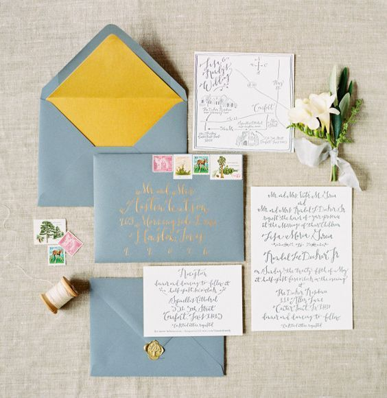 海外風デザインにきゅん♡真似したい海外花嫁さんのお洒落な招待状10選*にて紹介している画像