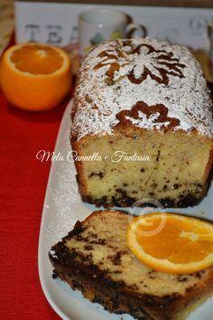 plumcake arancia e cioccolato fondente