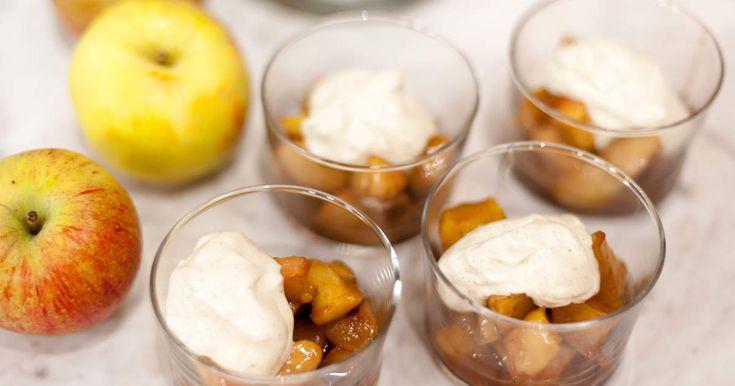 Kaneläpplen med vaniljfraiche | Recept från Köket.se