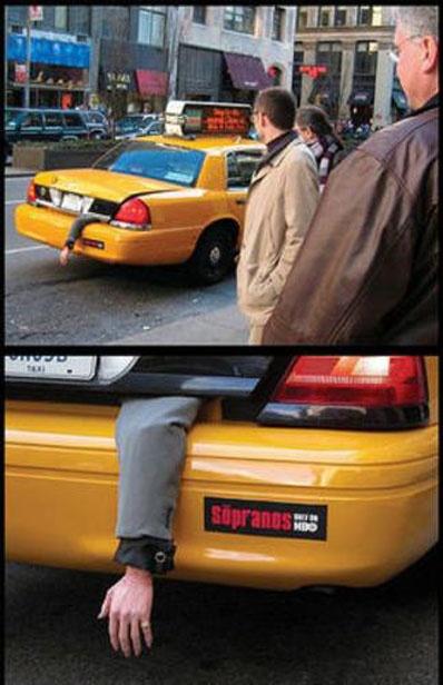 You've gotta love New York baby! HBO Sopranos Ad. God I miss The Sopranos every week!