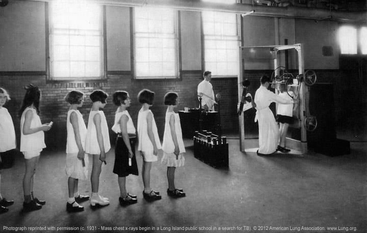 As many as 40 rolls of 100-foot-long x-ray film were processed daily during the U.S. government's campaign to halt the spread of tuberculosis.