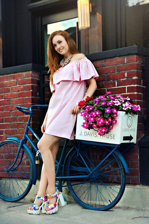 Pink #flouncetopdress