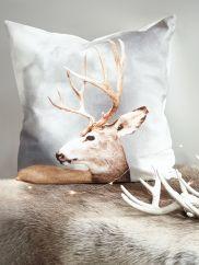 NEW Grey Deer Cushion