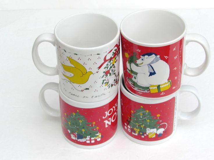 Lot Of 4 TAYLOR U0026 NG Mugs Coffee Cup Christmas Joyous Noel Polar Bear  Goodwill #TAYLORNG | Mug Shots   Smile And Sip | Pinterest