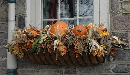 Fall Window Box:): Fall Pumpkin, Fall Flowers, Fall Decor, Fall Ideas, Window Planters, Flowers Boxes, Fall Window Boxes, Autumn Window, Pumpkin Boxes