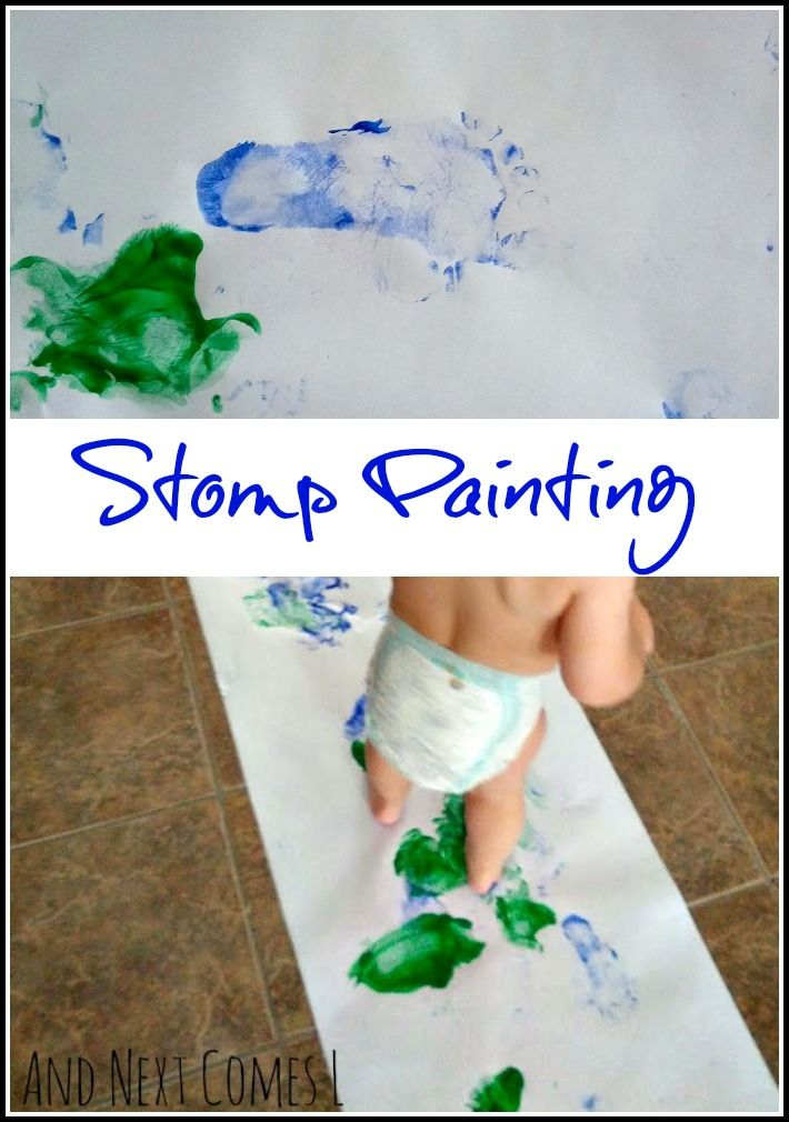 stomp painting - Toddler Painting Games